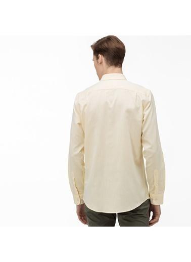 Lacoste Erkek Slim Fit Gömlek CH0017.17S Sarı